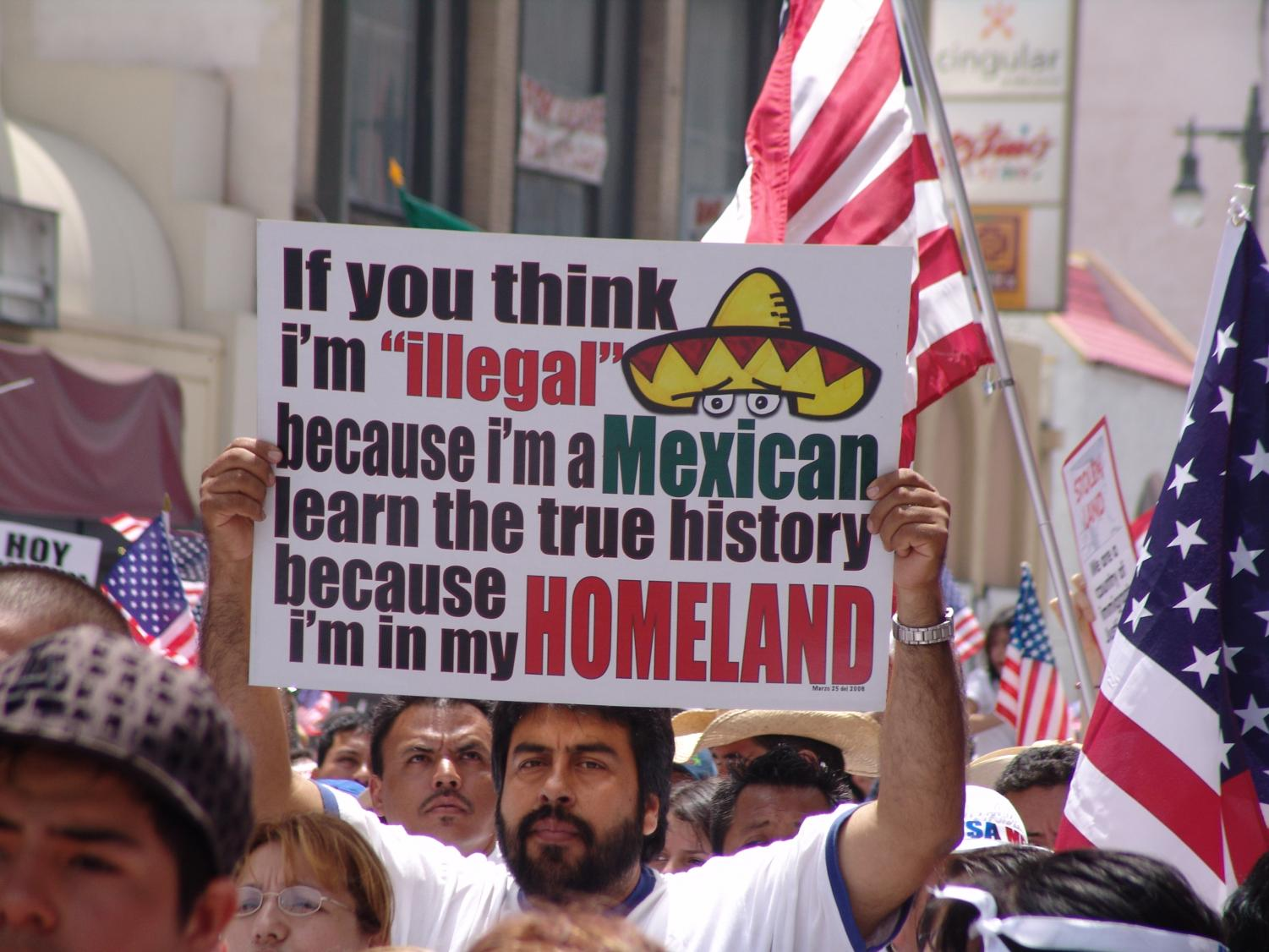 Courtesy of Wiki Commons.   Many immgirants in the U.S. have expressed a sense of identity in the country.