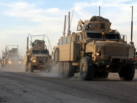 <p>A U.S. convoy departs from Contingency Operating Station Kalsu, a U.S. base about 60 miles south of Baghdad. For many U.S. troops, it is the last stop in Iraq on the way out of the country. </p>
