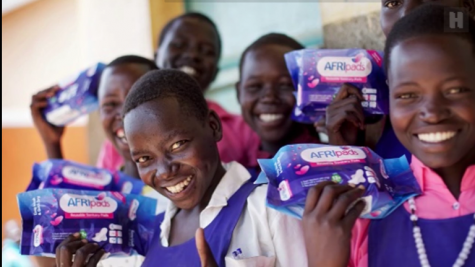 The AFRIpads project provides girls with reusable, cost efficient, and environmentally friendly hygiene products.
