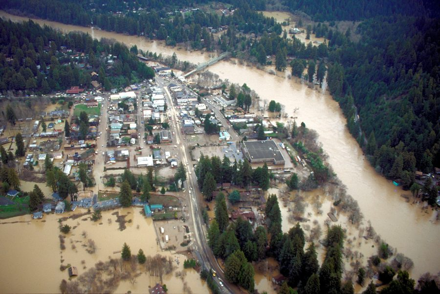 The+Russian+River+flooded+the+city+of+Guerneville.+The+river+has+flooded+many+homes+and+roads.+