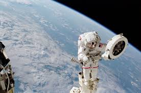 COURTESY OF NASA Spacewalks taking place in the next few months will improve conditions in the International Space Station (ISS). Astronauts will replace batteries, assemble parts, and more on the ISS.