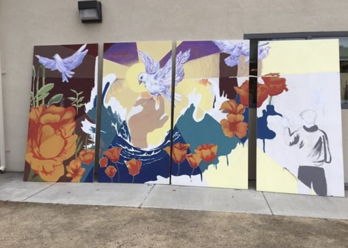 The Wilcox branch of NAHS is involved in various community mural projects.
