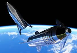An artist's concept of what the completed Starship will look like. Courtesy of SpaceX.