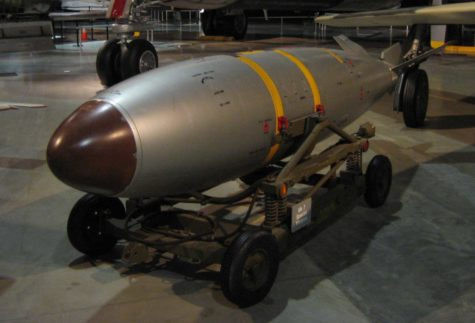 A Mark 7 Nuclear Bomb at the National Museum of the United States Air Force.