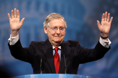 Senate Leader Mitch McConnell is giving a speech at the Conservative Political Action Conference.