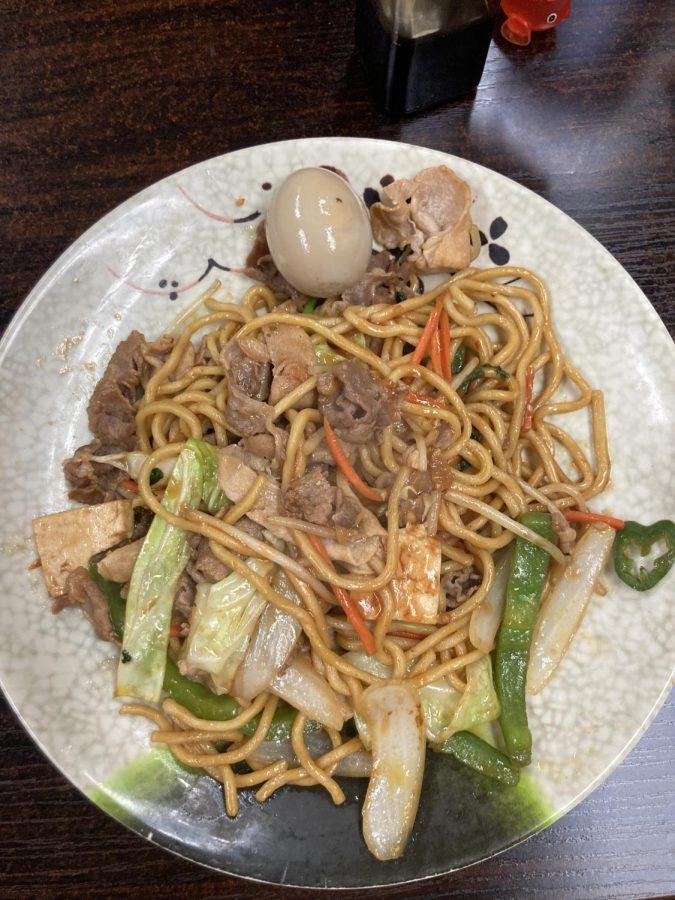Finished Mongolian dish at Noodle Plus Mongolian BBQ